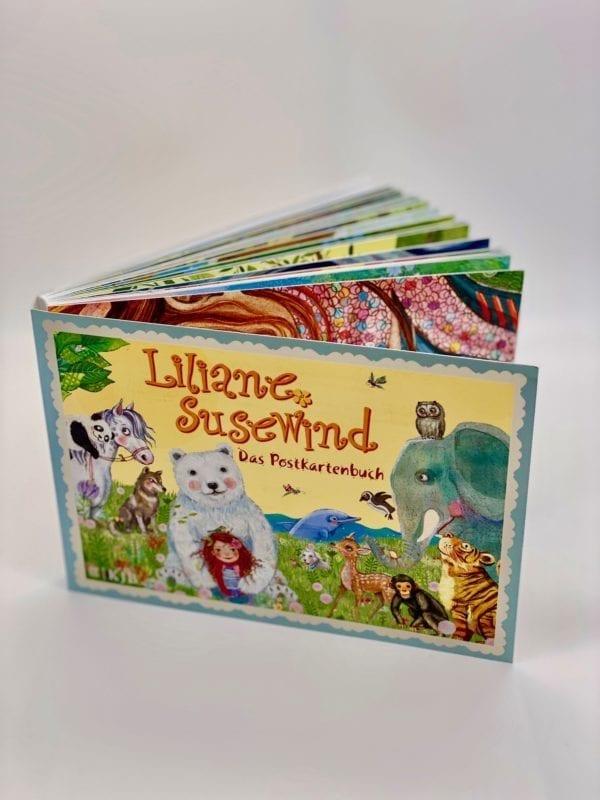 Postkartenbuch: Karten, offener Rücken