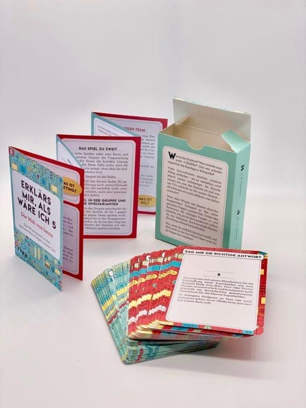 Spielkarten: Abgerundete Karten, Leporello, Schachtel