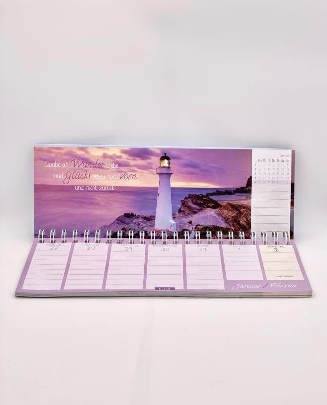 Tischkalender: Wire-O-Bindung