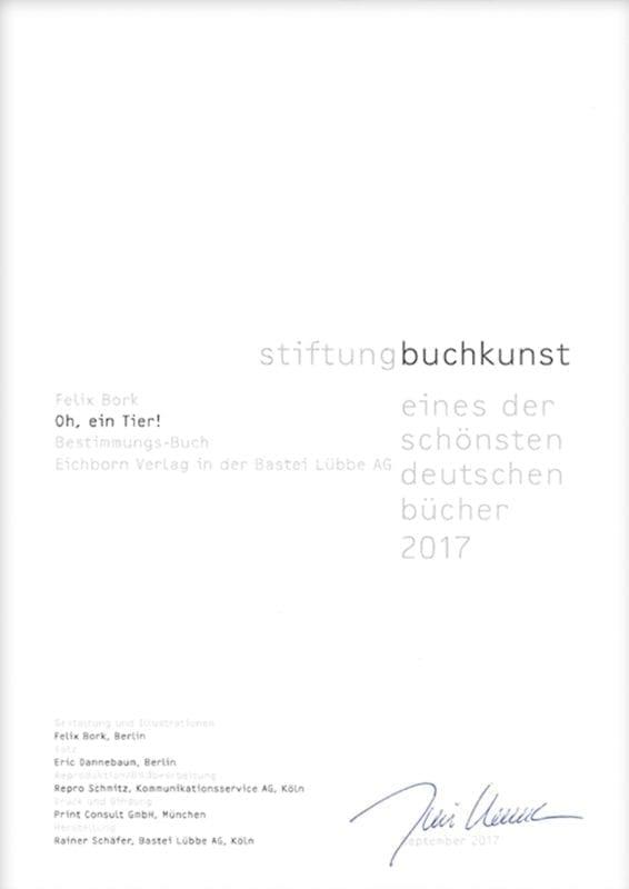 Urkunde stiftungbuchkunst